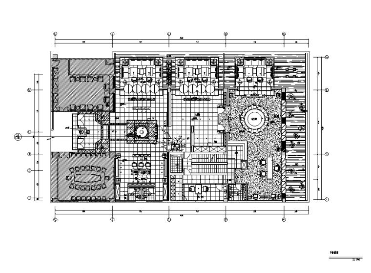 中式禅意风格铭豪茶式会所设计施工图(附效果图)