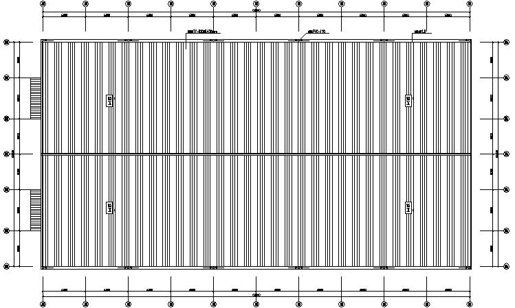 门式刚架结构60×32厂房工程施工图(CAD,8张)