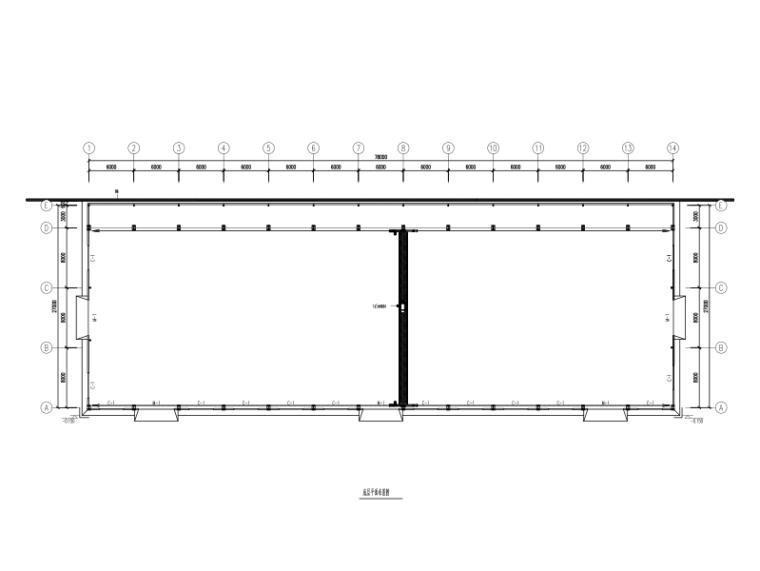 预制切钢结构厂房设计图