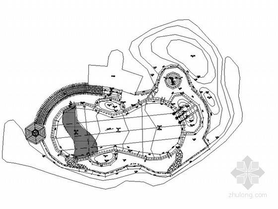 小区户外游泳池施工图