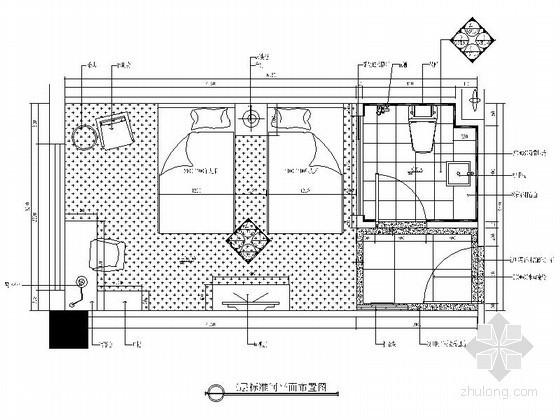 某标准客房设计装修图