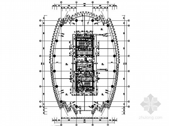 [大连]某四十二层超高层国际广场平面图