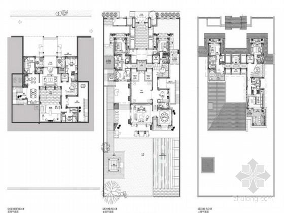 [广东]豪华温泉庭院别墅室内装修设计方案