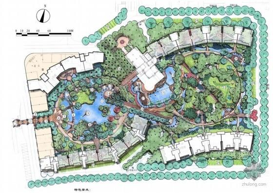 苏州某小区景观设计总平面