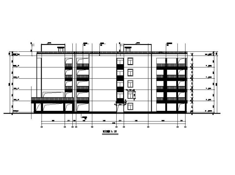 [浙江]五层长条形面砖外墙市级中学建筑施工图(含效果图)_5