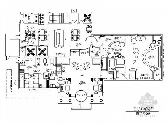 [武汉]高档现代风格洗浴中心室内CAD装修图(含效果)