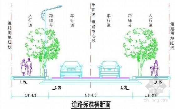 [广东]城市支路加铺罩面路面修复设计图26张(含人行道 交通工程)