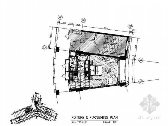 [深圳] 蛇口某国际大酒店K6房型客房室内装修图