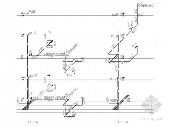 [吉林]公共租赁住房给排水施工图(15年最新设计)