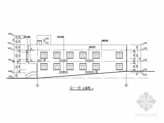 两层框架结构带一层地下室服务综合楼结构图(含建筑图)