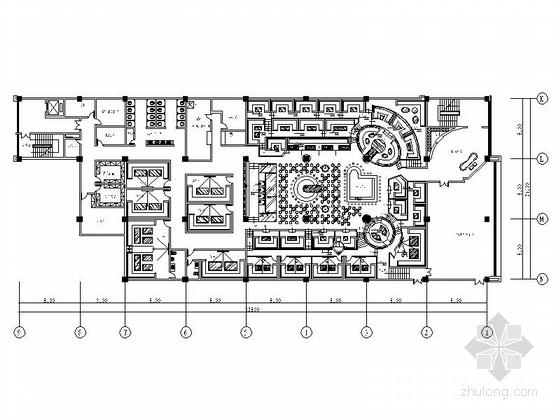 [石家庄]环境氛围极好的酒吧室内设计CAD施工图(含效果图)