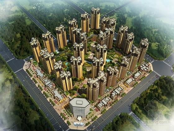[成都]artdeco风格复合型中高端住宅区规划设计方案文本