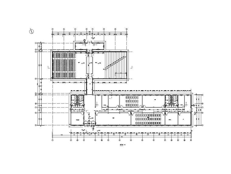 [四层]6745平米框架教学楼毕业设计(计算书、建筑结构图)