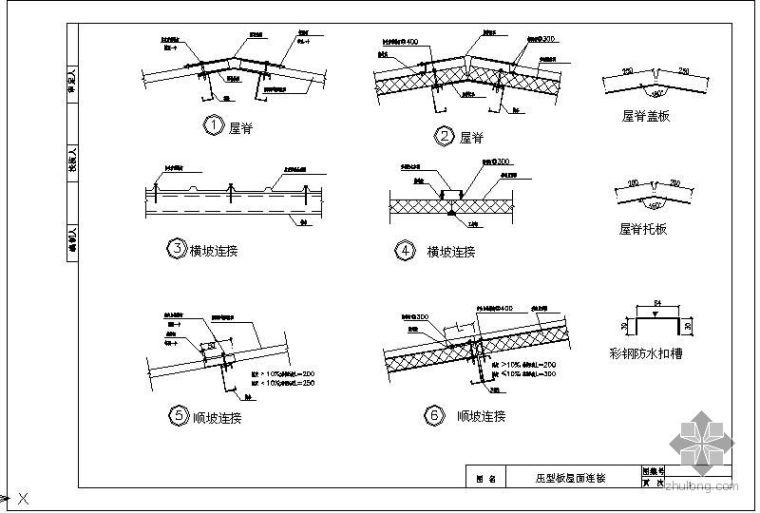 某钢结构压型钢板图集节点构造详图