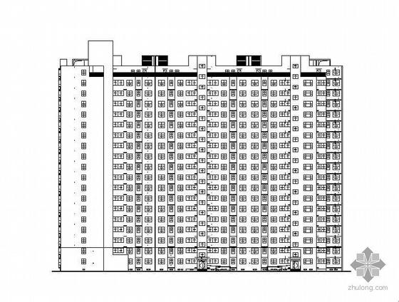 某联合大学城职工十八层住宅楼建筑施工图