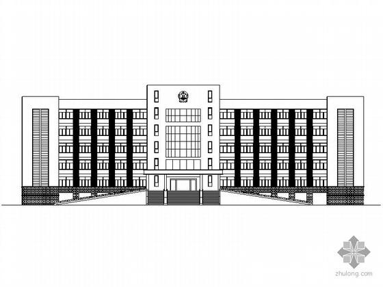[江苏]某政府五层办公楼建筑施工图、效果图