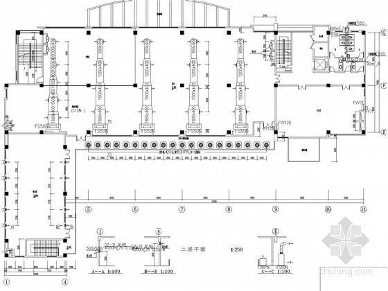 通讯机房及办公楼中央空调通风系统设计施工图