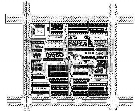 南湖花园小区绿化设计图