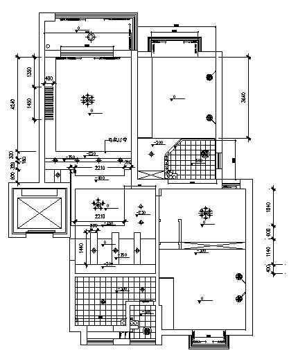 新古典二室两厅装修图-2