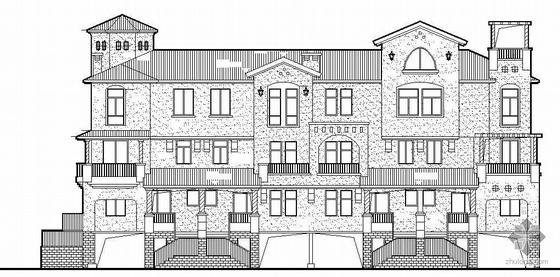 [惠东]某三层6、7、8、9、10号B型联排别墅建筑结构水暖电施工图