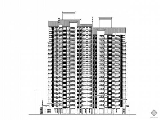[常州]某二十一层一梯四、中式住宅楼建筑施工图