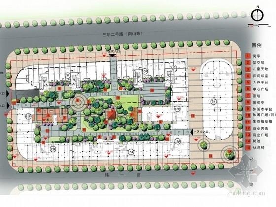 [泉州]现代简约居住区景观概念设计方案