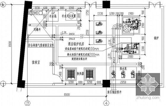 锅炉房大学专业基础布置图平面平面设计设备没太获过奖图片