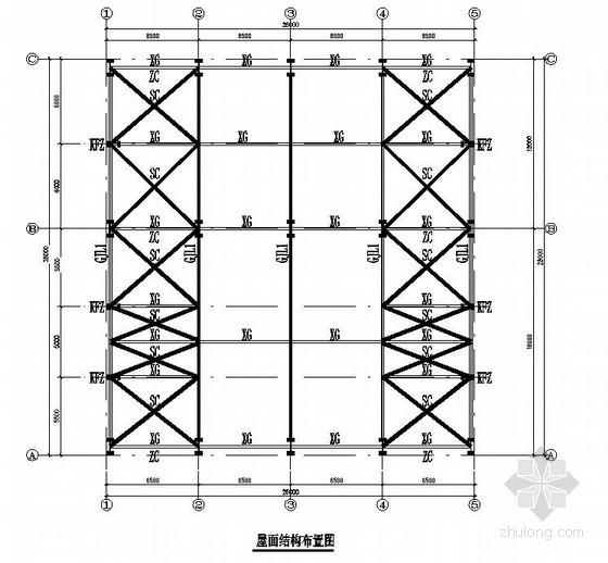 [湘潭]16米跨钢结构库房建筑结构施工图
