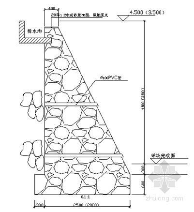 [广东]核电工程重力式毛石挡土墙施工方案