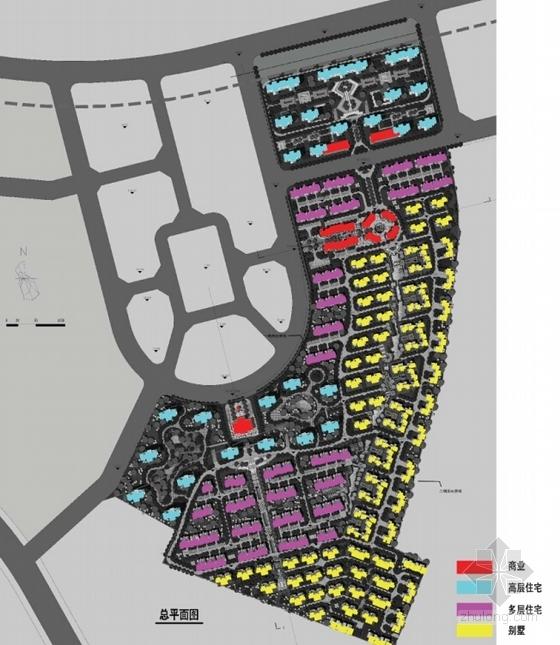 [大连]英式风情小镇住宅小区及商业规划设计方案文本-英式风情小镇住宅区及商业规划分析图