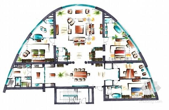 [大连]超牛手绘住宅汇报方案从平面到效果图