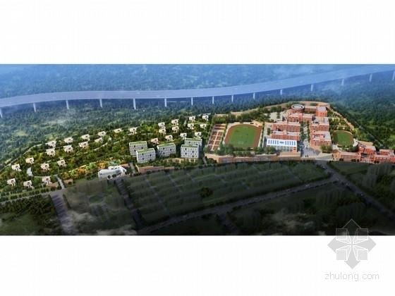[陕西]生态型环保地块学校地块规划及建筑单体设计方案文本(含养老院设计)