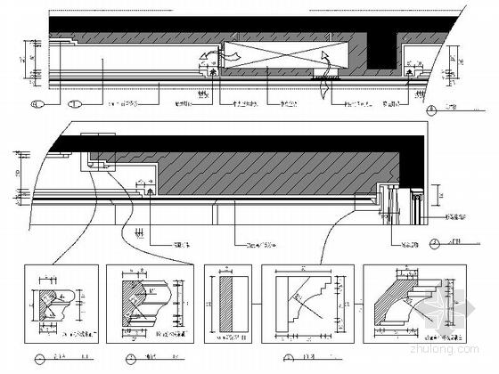 [福州]现代风格130平三居室装修图(含效果)客厅大样图