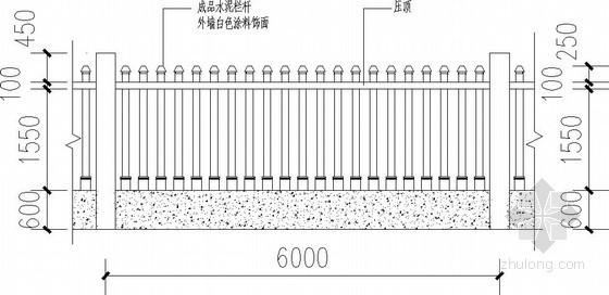 厂区围墙节点构造详图