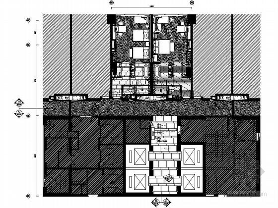 [四川]全球最大酒店客房电梯厅室内装修设计施工图(含方案效果)