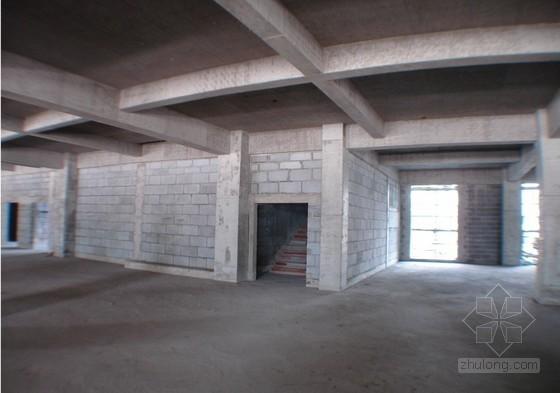[上海]框架结构小高层商业办公楼投标施工组织设计(土建、装饰、安装)-砌体效果图