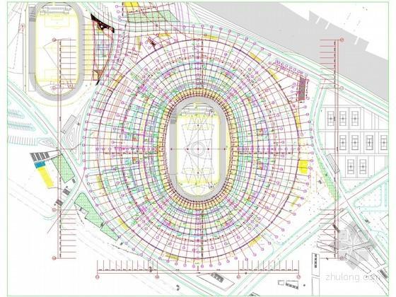 [浙江]奥体中心建筑强弱电系统全套施工图纸498张(国家级特大型体育