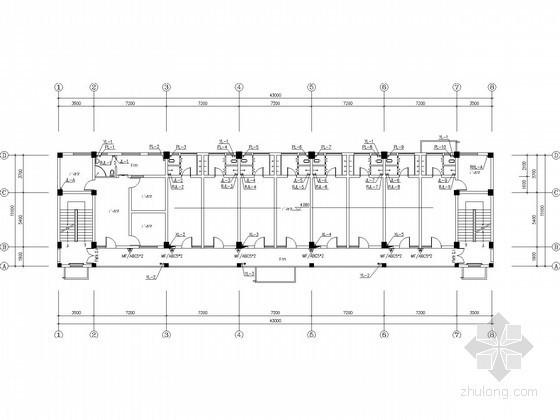 七层宿舍楼给排水施工图(太阳能热水)