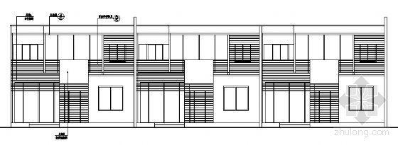北京某二层别墅区联排别墅建筑设计图2