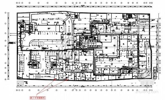 [南京]国际连锁五星酒店弱电平面图(180米高)