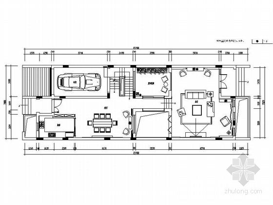 [海南]精装现代简约3层别墅室内设计全套CAD施工图(含效果图)