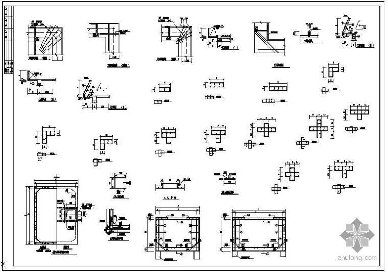某天沟与水箱结构大样节点构造详图