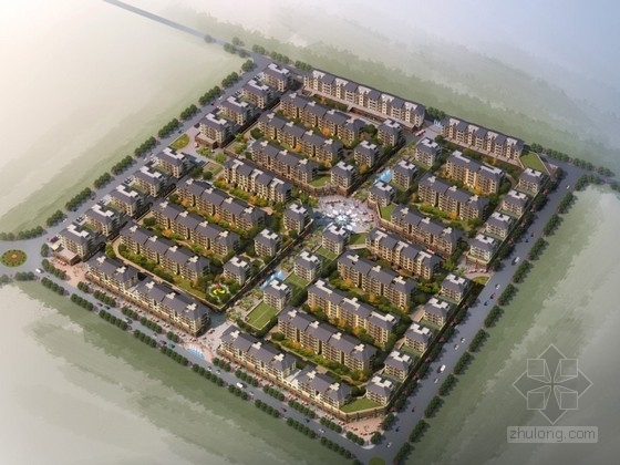 [江苏]某地中海风格小区规划设计方案文本(含CAD)