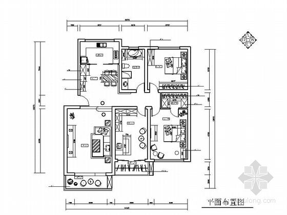 活泼红色调现代两居室装修图(含效果图)