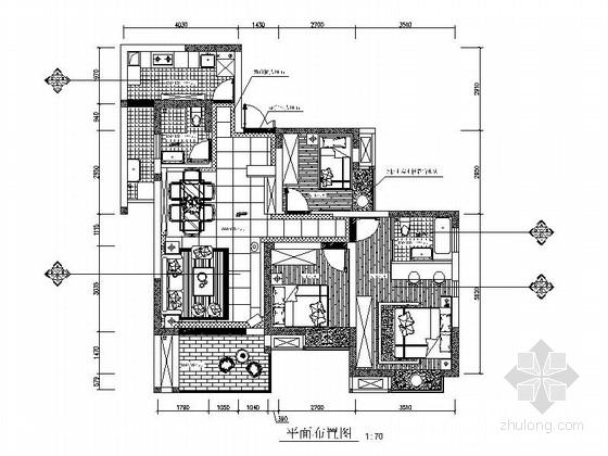 [原创]温馨现代简约2居室室内设计全套CAD施工图(含效果图)