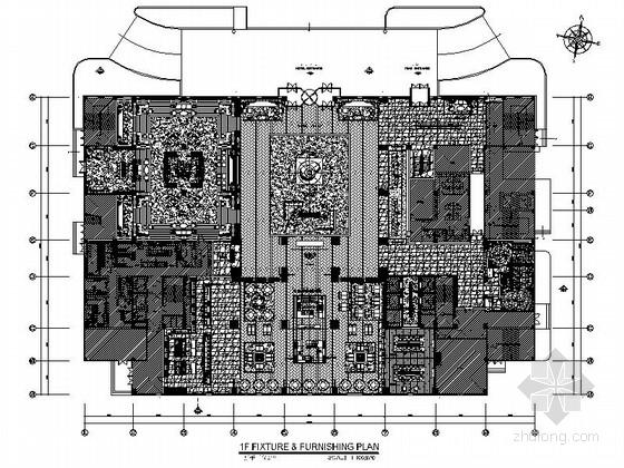 [辽宁]东北的第一家国际五星级酒店大堂室内装修施工图(含效果)