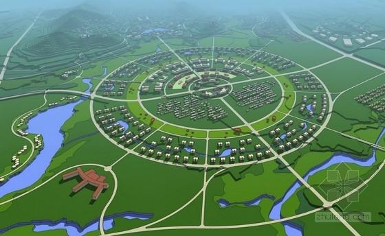 [山东]文化休闲度假首善之都总体设计方案-鸟瞰图