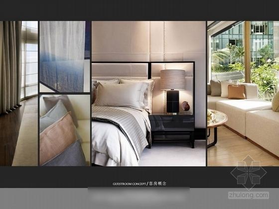 [深圳]某五星级机场酒店室内设计方案图 客房概念