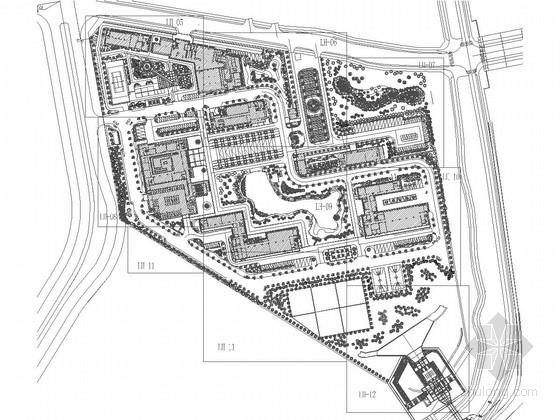[广东]城市公共实训中心景观规划设计施工图