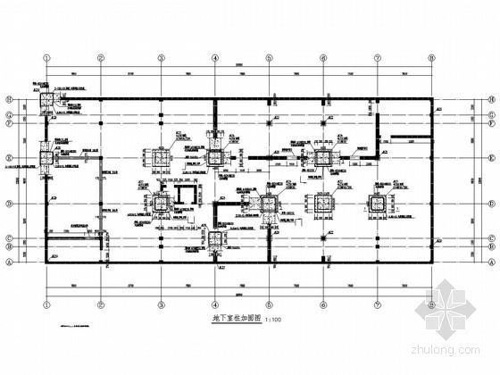 七层框剪结构综合楼装修改造加固结构施工图